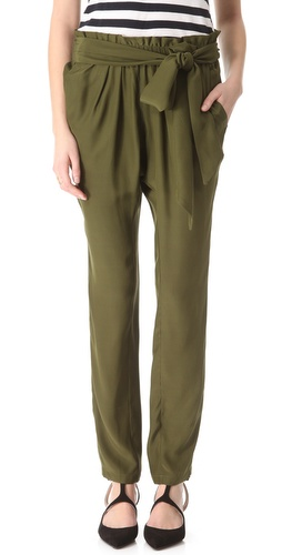 Shop Piamita Sienna Tie Waist Pants - Piamita online - Apparel,Womens,Bottoms,Pants,Trousers, at Lilychic Australian Clothes Online Store