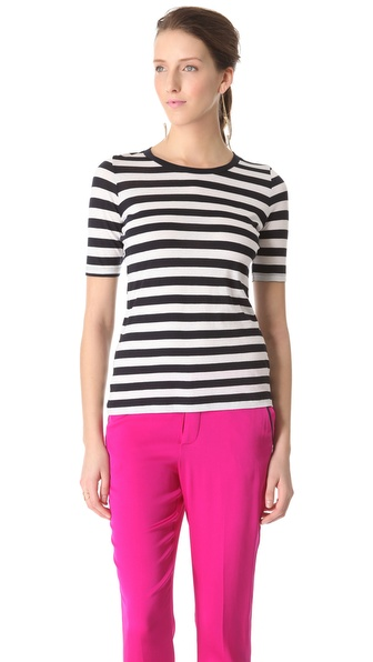 Piamita Stripe Crew Tee