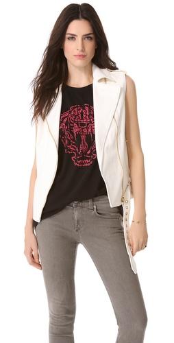 Pierre Balmain Leather Vest