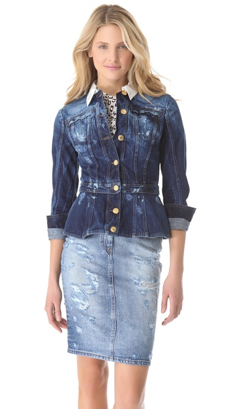 Pierre Balmain Fitted Denim Jacket