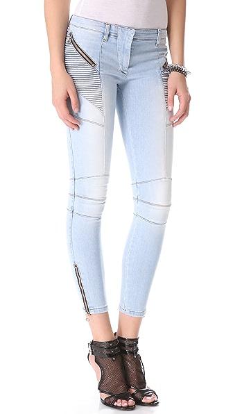 Pierre Balmain Moto Jeans