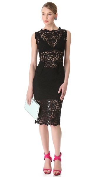 Pierre Balmain Sleeveless Lace Dress