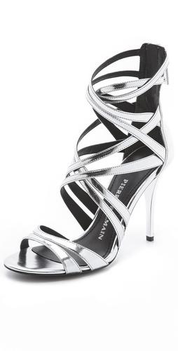 Pierre Balmain Manila Metallic Sandals
