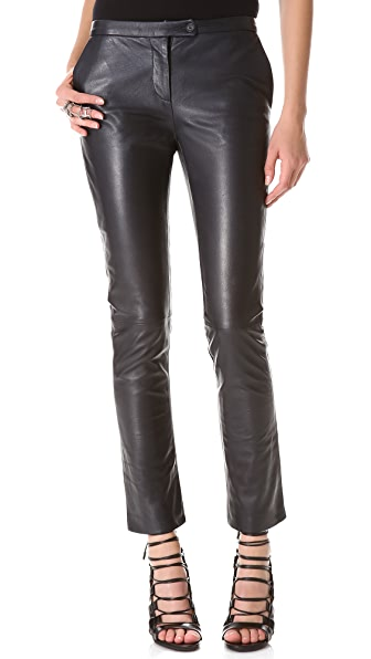 Pierre Balmain Leather Trumpet Pants