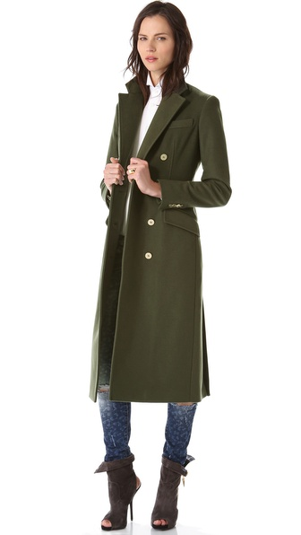 Pierre Balmain Double Breasted Long Coat
