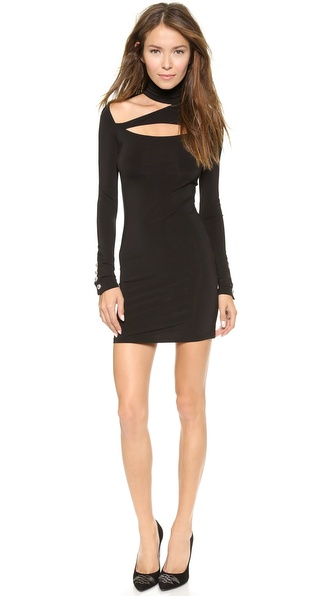 Pierre Balmain Slash Shoulder Turtleneck Dress