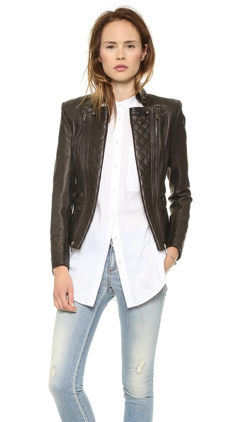 Pierre Balmain Leather Moto Jacket