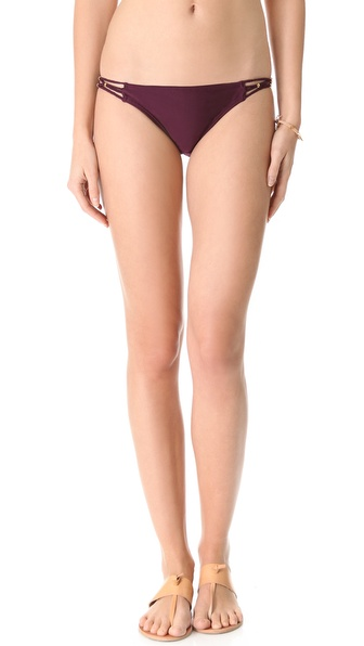PilyQ Sangria Braided Full Bikini Bottoms