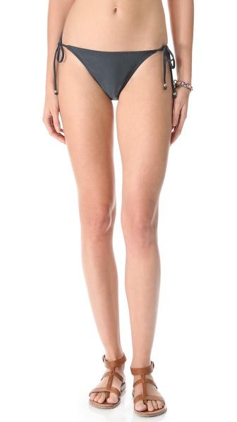 PilyQ Titanium Tie Bikini Bottoms
