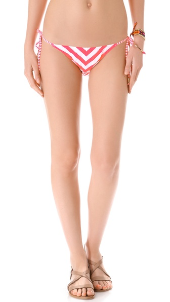 Shop PilyQ online and buy Pilyq Candy Stripe String Bikini Bottoms Candy Stripe - Neon stripes create bold chevrons on string bikini bottoms, and polished beads accent the contrast striped ties. Lined. 78% polyamide/22% elastane. Hand wash. Imported, Colombia. Available sizes: L