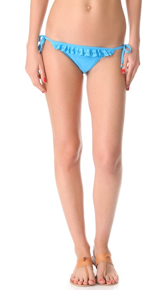 PilyQ Pacific Blue Laser String Bikini Bottoms