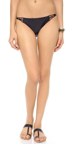 PilyQ Midnight Gold Bikini Bottoms