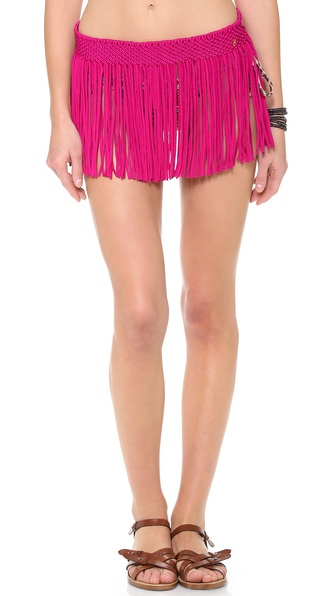 PilyQ Berry Bliss Fringe Skirt