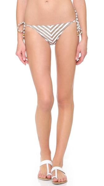 PilyQ Mosaic Gold Bikini Bottoms