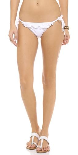 PilyQ Bahama White Bikini Bottoms