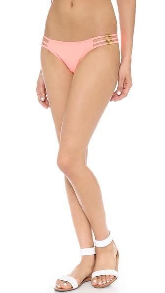 PilyQ Gold Pipette Bikini Bottoms