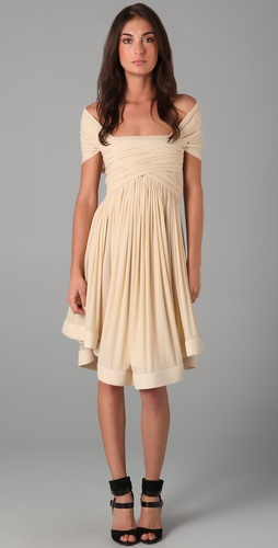 Plein Sud Cap Sleeve Ruched Dress