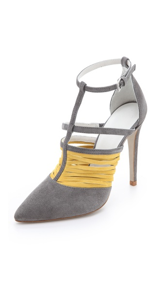 Plomo Morgan Contrast Suede Pumps