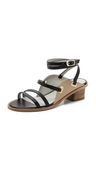 Plomo Antoinette Strappy Low Heel Sandals