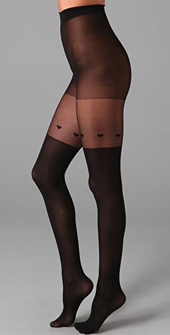Plush Heart Top Tights