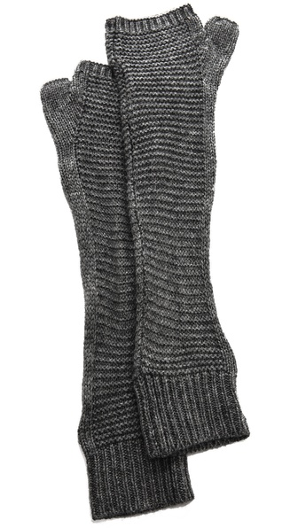 Plush Waffle Knit Arm Warmers