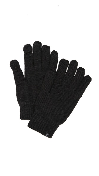 Plush Fleece Lined Smartphone Gloves - Black at Shopbop