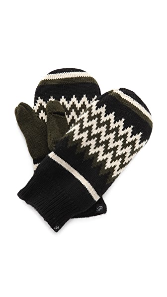 Plush Zigzag Fleece Lined Mittens