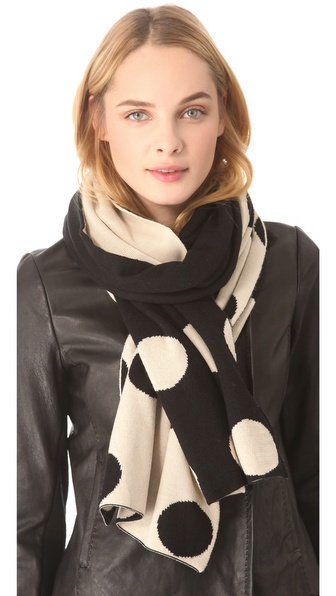 Plush Polka Dot Reversible Scarf