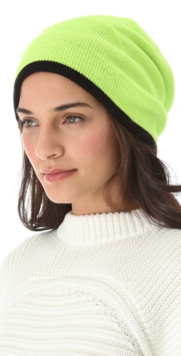 Plush Two Tone Barca Slouchy Hat at Shopbop.com