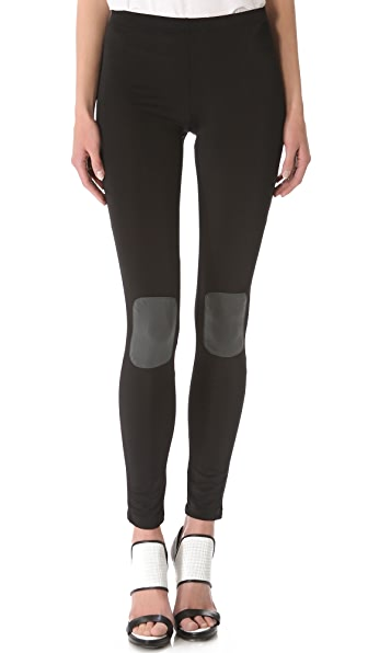 Plush Knee Patch Leggings
