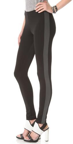 Plush Tuxedo Stripe Leggings