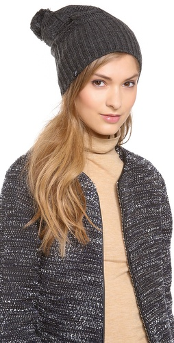 Plush Cable Knit Pom Pom Hat at Shopbop / East Dane