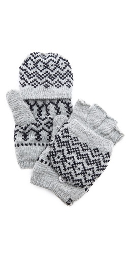 Plush Scandinavian Texting Mittens at Shopbop / East Dane