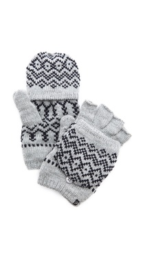 Plush Scandinavian Texting Mittens