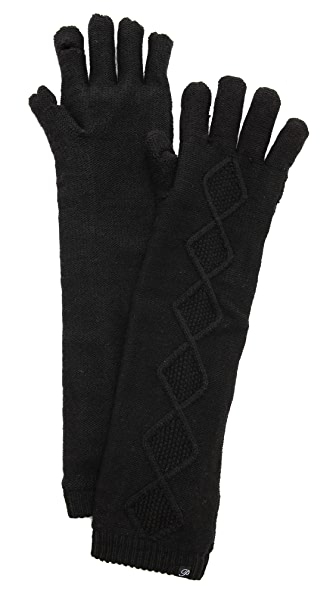 Plush Elbow Length Smartphone Gloves
