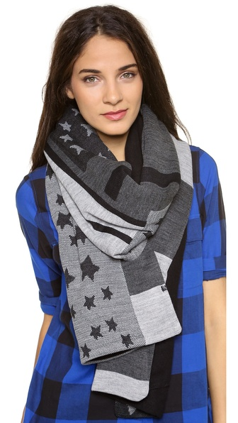 Plush Stars & Striped Scarf