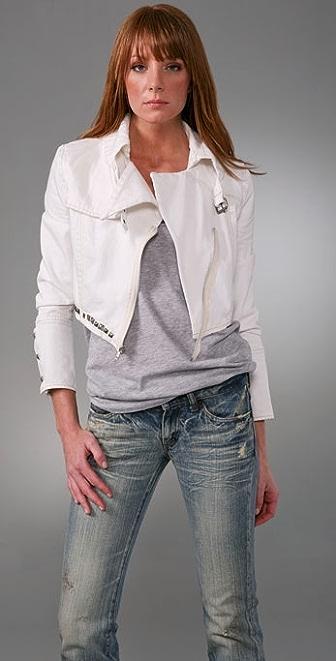 Pencey Denim Moto Jacket