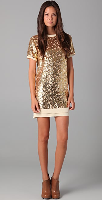 Pencey Sequined Shift Dress