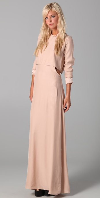 Pencey Side Cut Maxi Dress