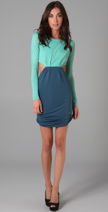 Pencey Colorblock Cutout Dress