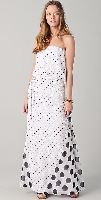 Pencey Strapless Godet Dress