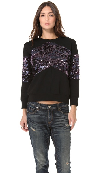 Pencey Chevron Sequin Sweatshirt