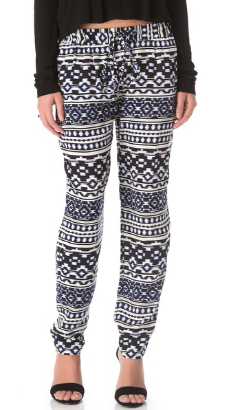 Pencey Ikat Print Drawstring Pants