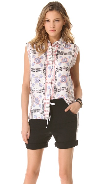 Pencey Tile Print Blouse