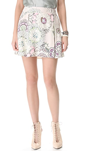 Pencey Floral Box Pleat Skirt