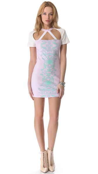 Pencey Reflected Floral Triangle Dress