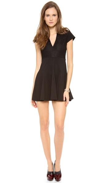 Pencey Deep V Lace Dress