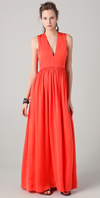 Pencey Standard Jessica Hart for Pencey Standard V Neck Maxi Dress