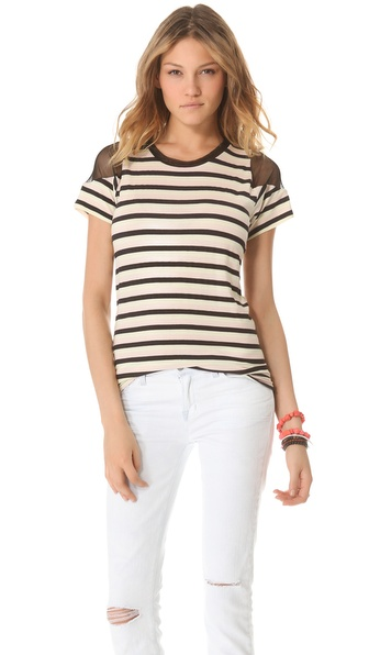 Pencey Standard Inset Stripe Tee