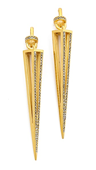 Paige Novick Claire Collection Caged Spike Earrings